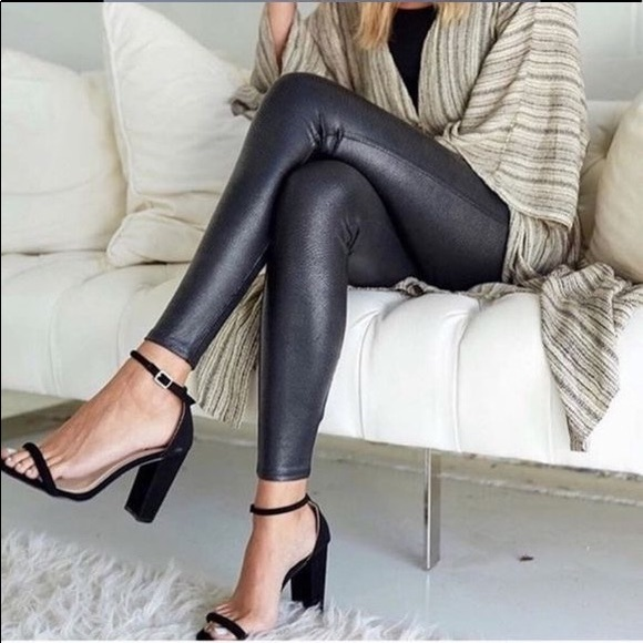 a05b025eb9c44 SPANX Pants | Pebbled Faux Leather Leggings | Poshmark